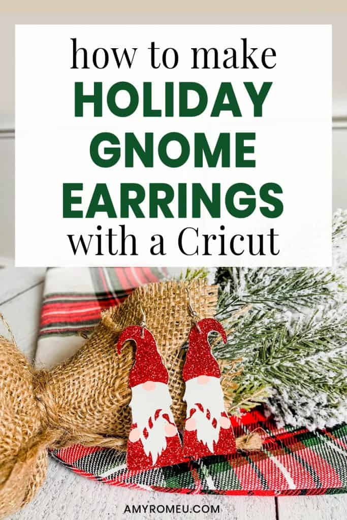 Christmas gnome earrings