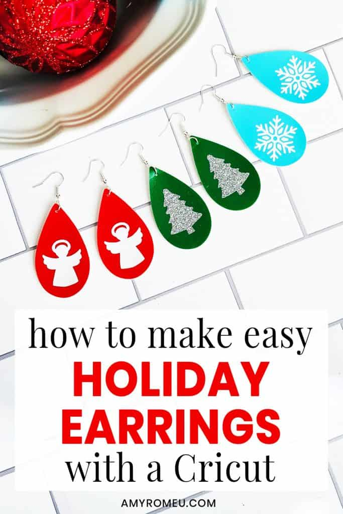 How to Make Easy DIY Holiday Earrings with a Cricut
