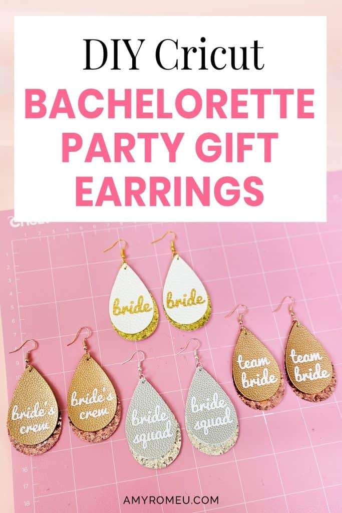 faux leather Bachelorette Party earrings