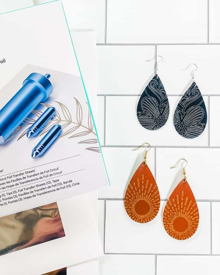 DIY Foiled Earrings with the Cricut Foil Transfer Kit