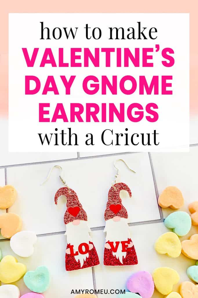 How to Make Valentine's Day Gnome Earrings with a Cricut