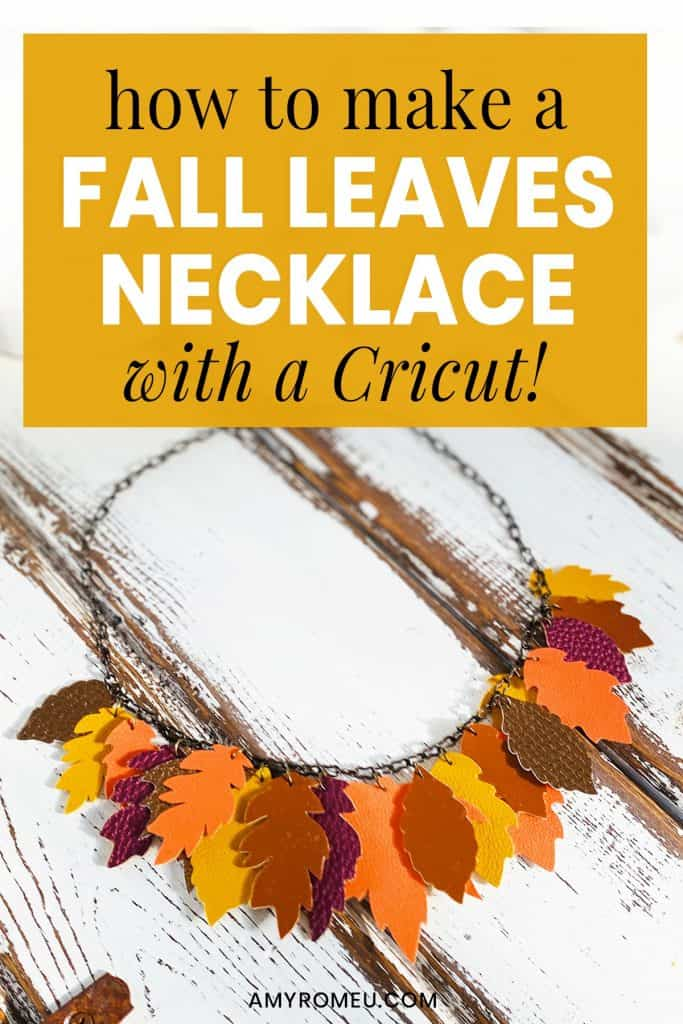 DIY fall leaves necklace