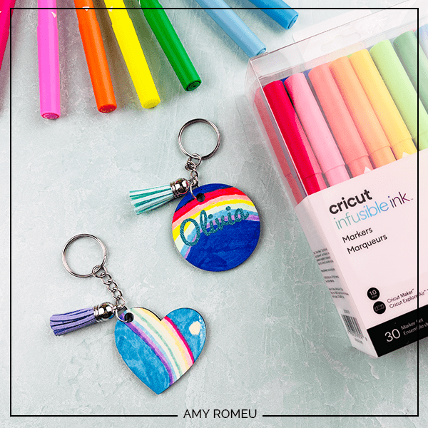 DIY infusible ink keychains