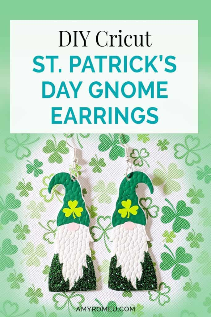 DIY St. Patrick's Day Gnome Earrings