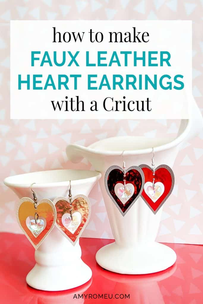 DIY Cricut heart earrings