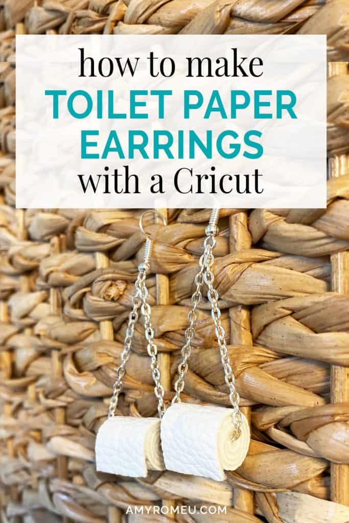 DIY funny toilet paper earrings