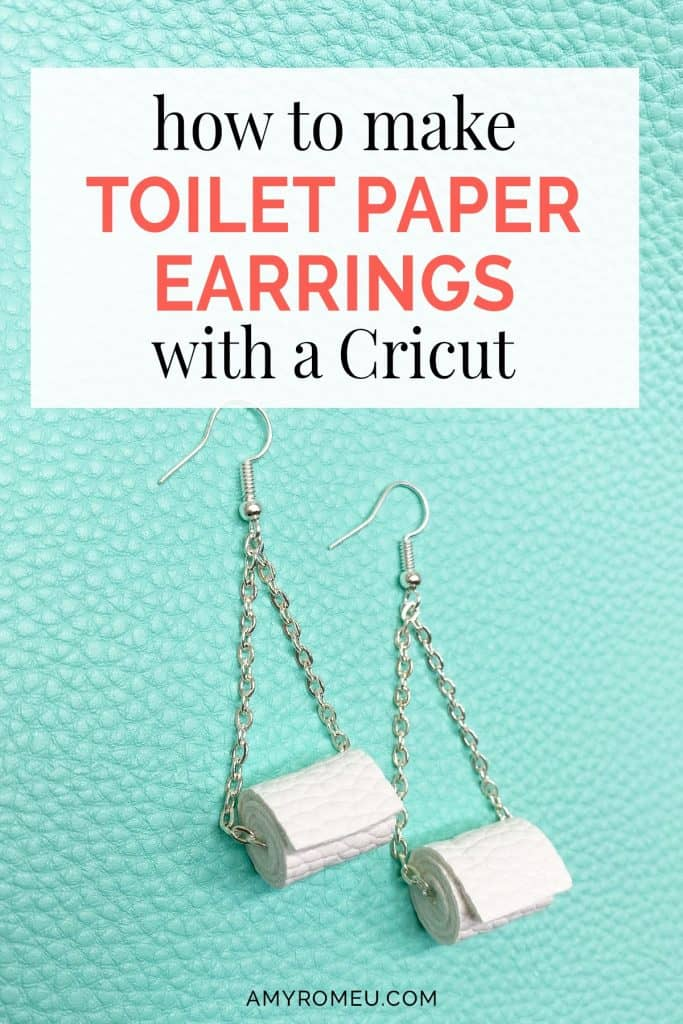 faux leather toilet paper earrings