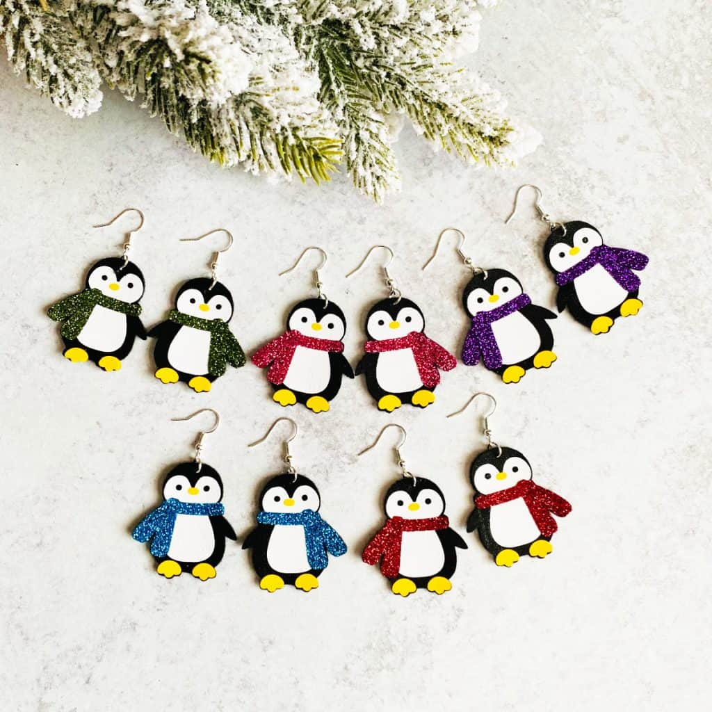 Penguin Earrings DIY