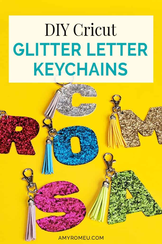 How To Make DIY Cricut Glitter Letter Keychains