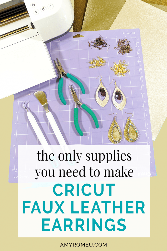 Cricut cutting mat, Cricut maker, assorted jewelry making tools and findings