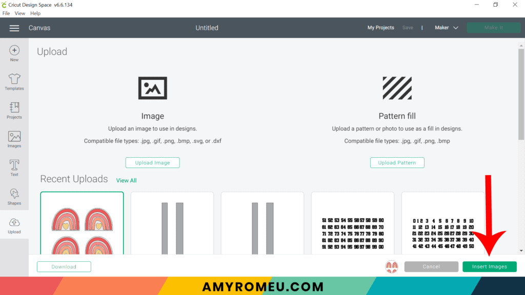 uploading SVG to Cricut Design Space