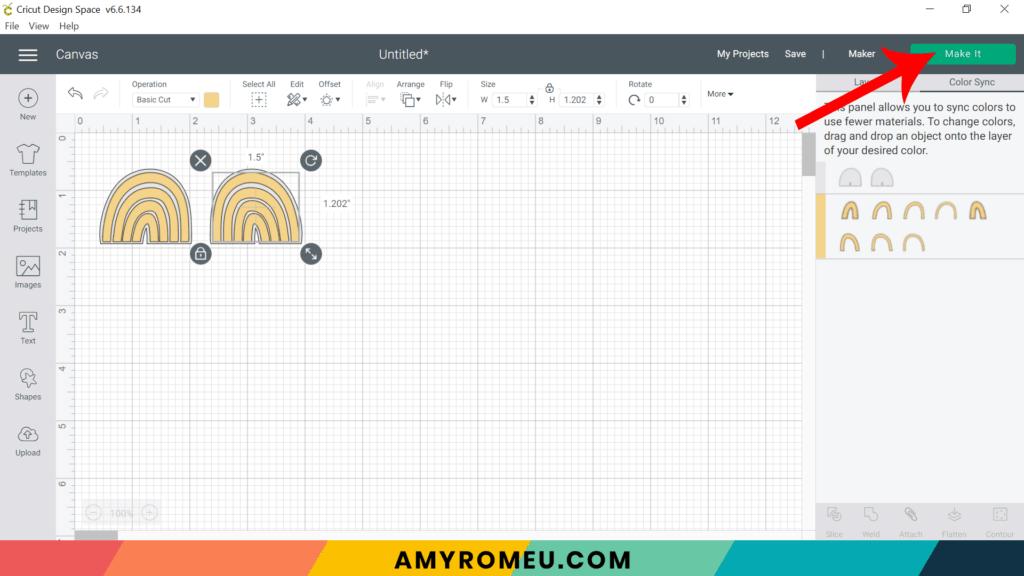 using color sync in Cricut Design Space