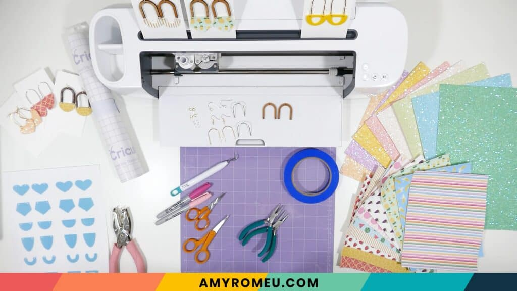 tools and materials for arched connector earring project