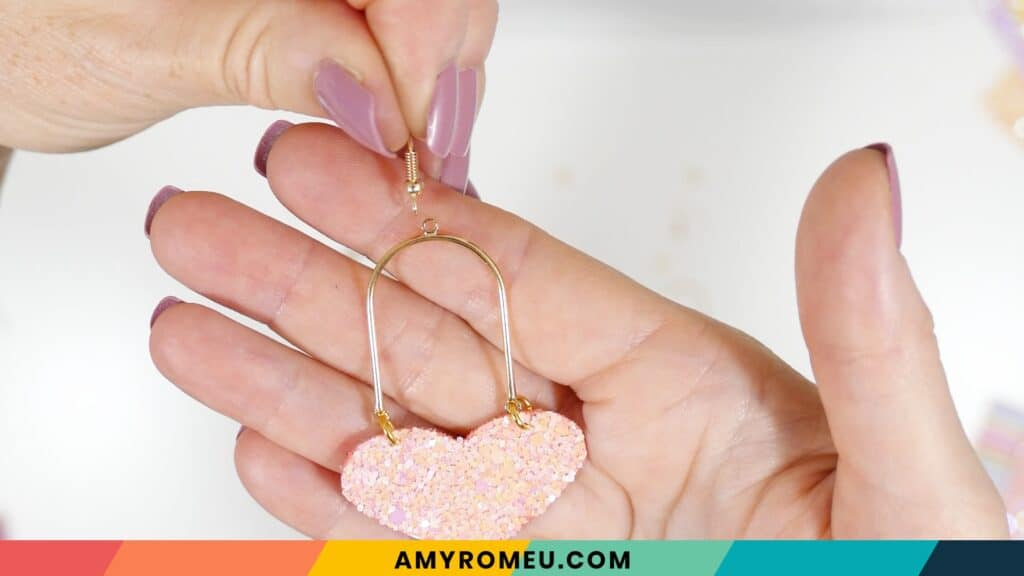 attaching earring hook to arch connector earrings