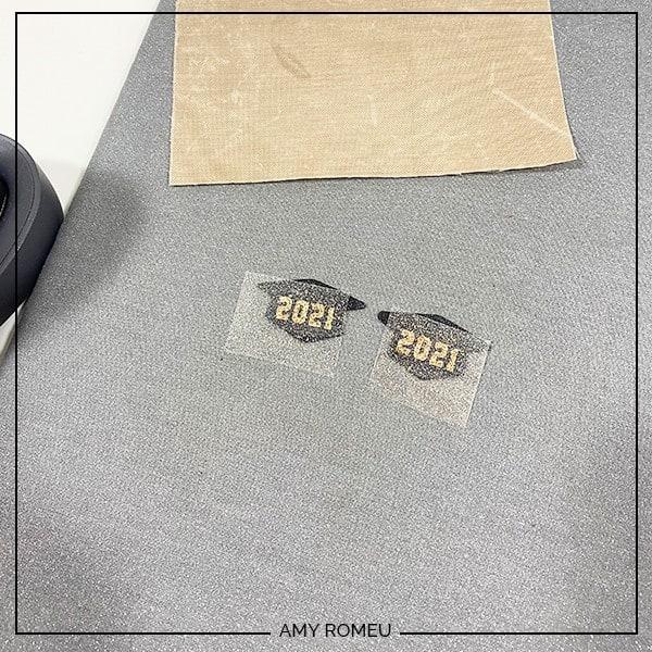 pressing vinyl on faux leather earrings