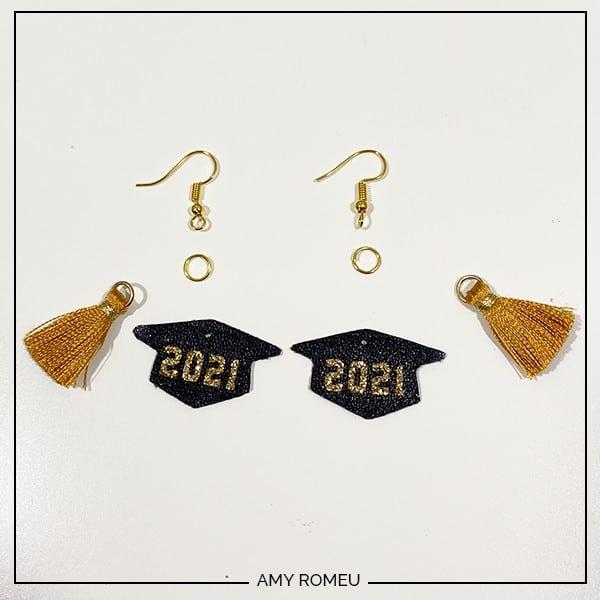 2021 graduation cap earrings and earring hooks