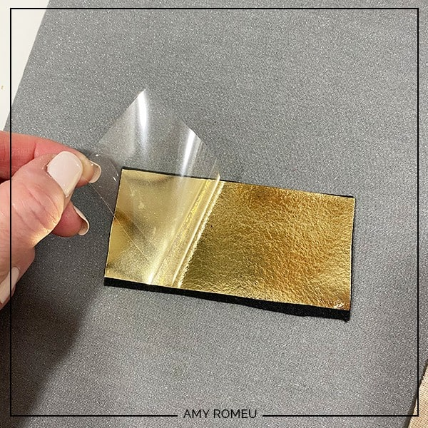 peeling foil iron on backing from faux leather