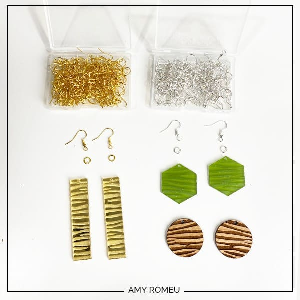 tools and materials needed to make glowforge earrings