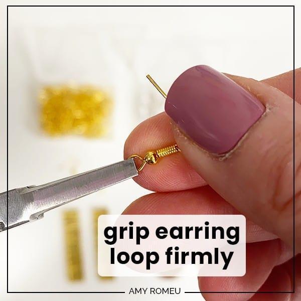 turning earring loop 90 degrees