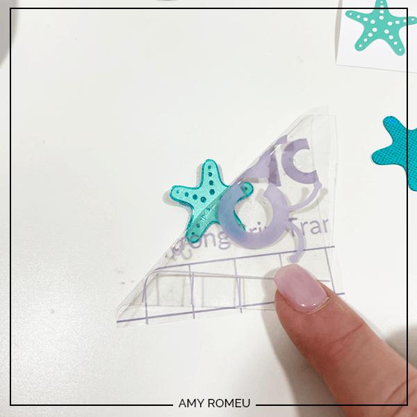 making starfish earrings with vinyl and Cricut Joy