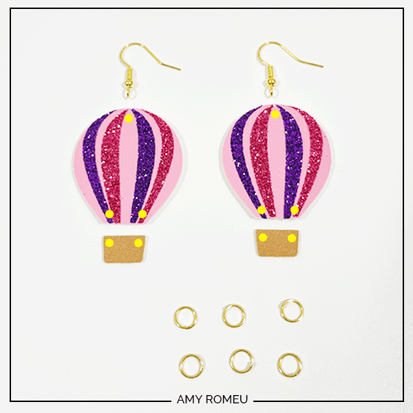 punching holes for hot air balloon earrings