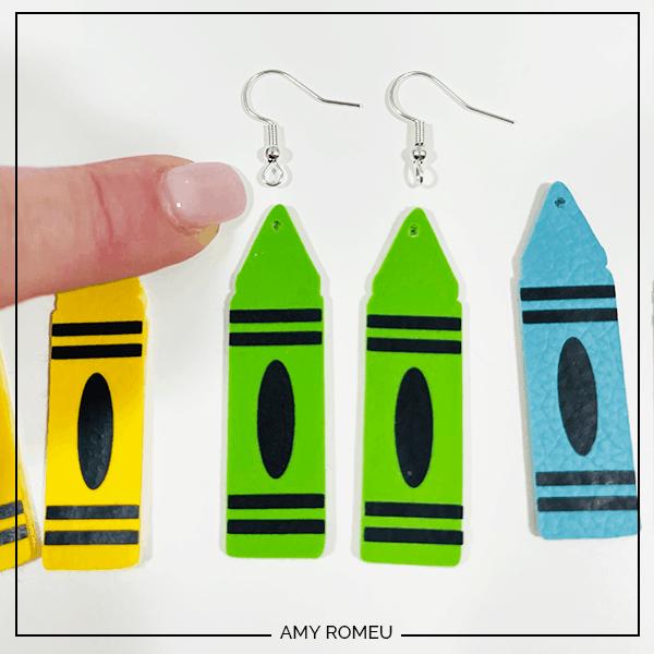 earring hooks for crayon earrings
