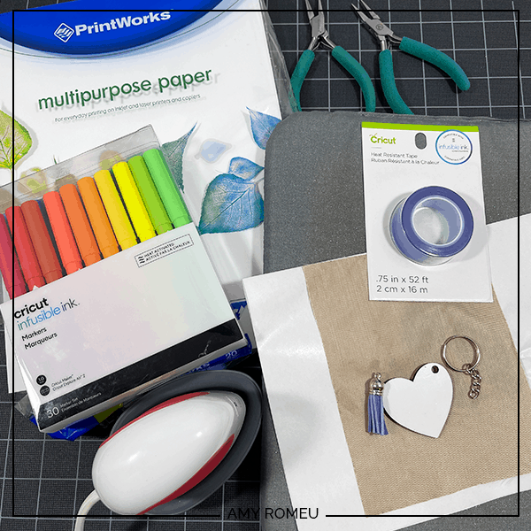 crafting materials needed for infusible ink marker keychains