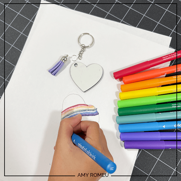 diy keychain with infusible ink markers