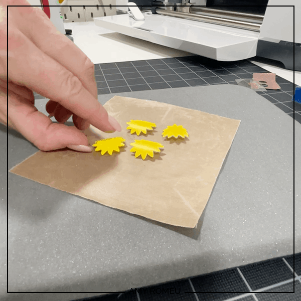 sunflower earrings petals that are curling