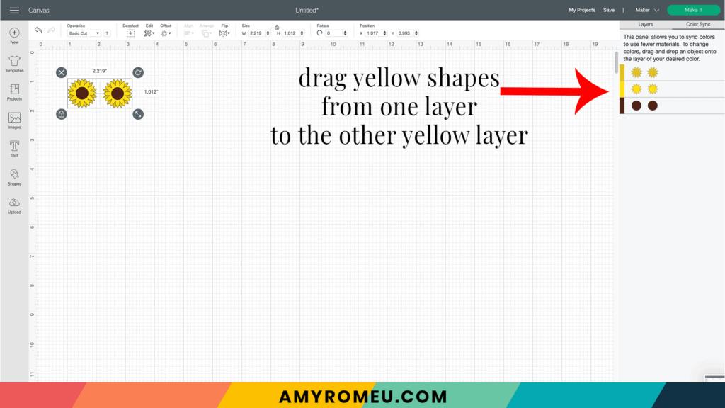 Cricut Design Space color sync