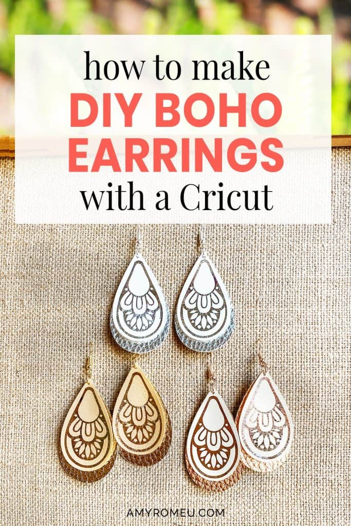 DIY boho earrings Cricut