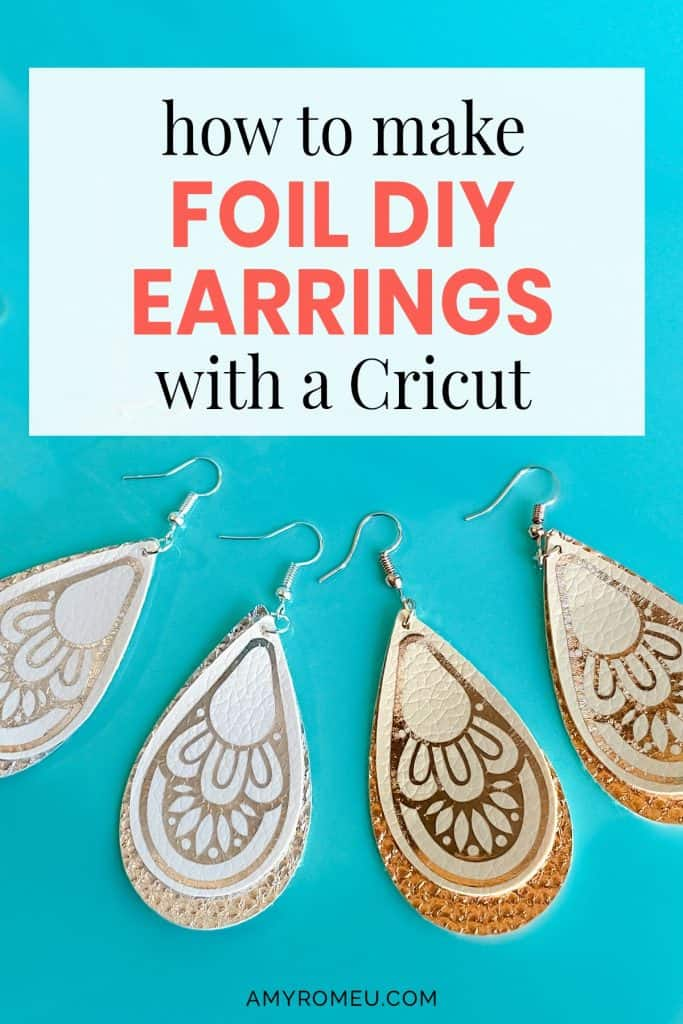 faux leather earrings with bohemian style foil iron on decoration