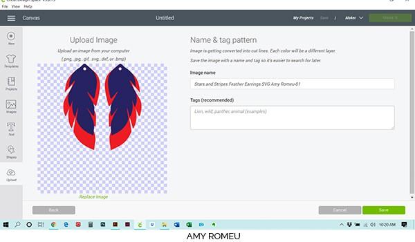 Cricut Design Space preview screen