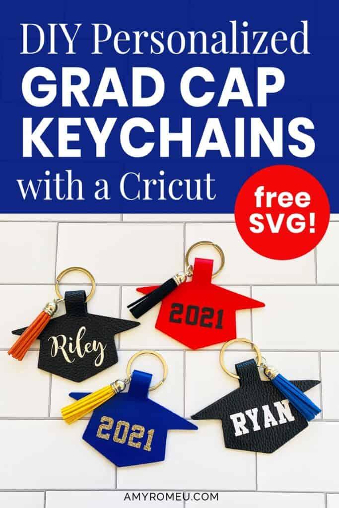 graduation cap keychains