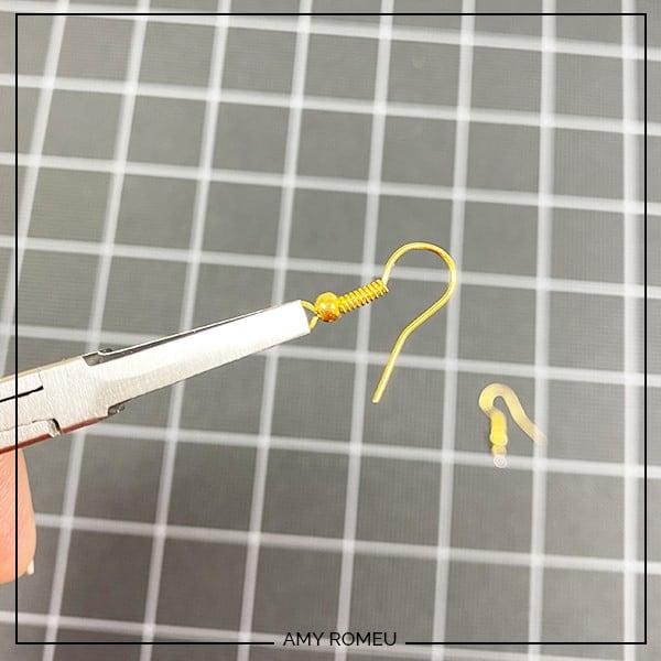 twisting earring hook loops