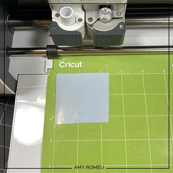 cutting foil iron on with a Cricut