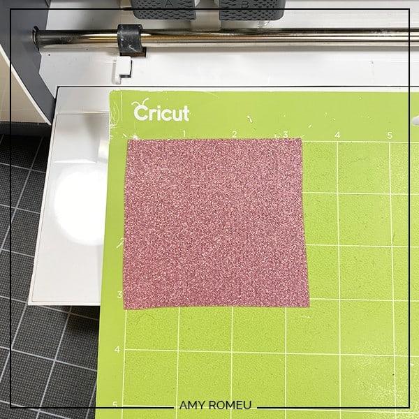 how to cut glitter vinyl with a cricut