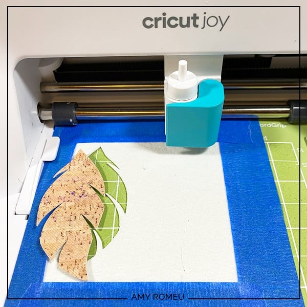 removing printed cork faux leather from Cricut Joy cutting mat