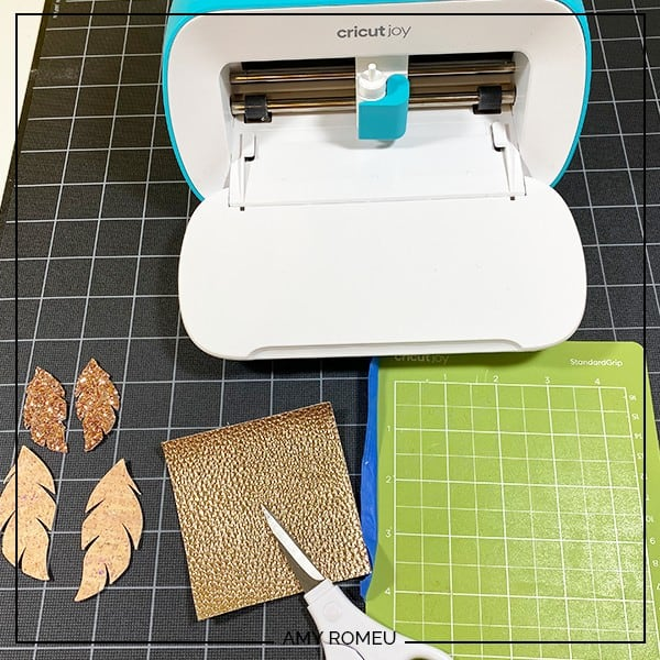 metallic faux leather to cut with a Cricut Joy