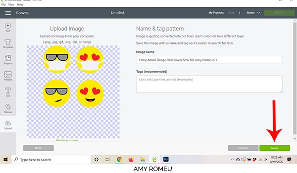 Cricut Design Space screenshot preview of files to upload