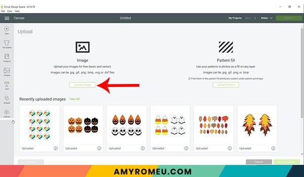 choose file to upload cricut design space