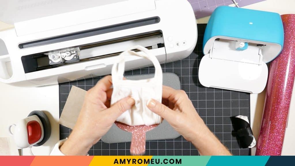 adding mask to mask holder