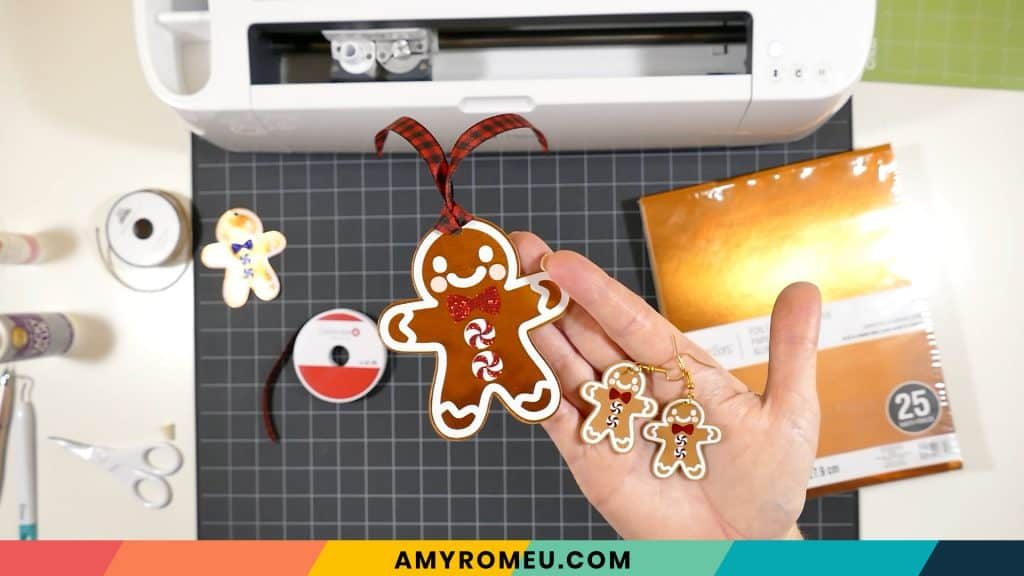 finished gingerbread man gift tag