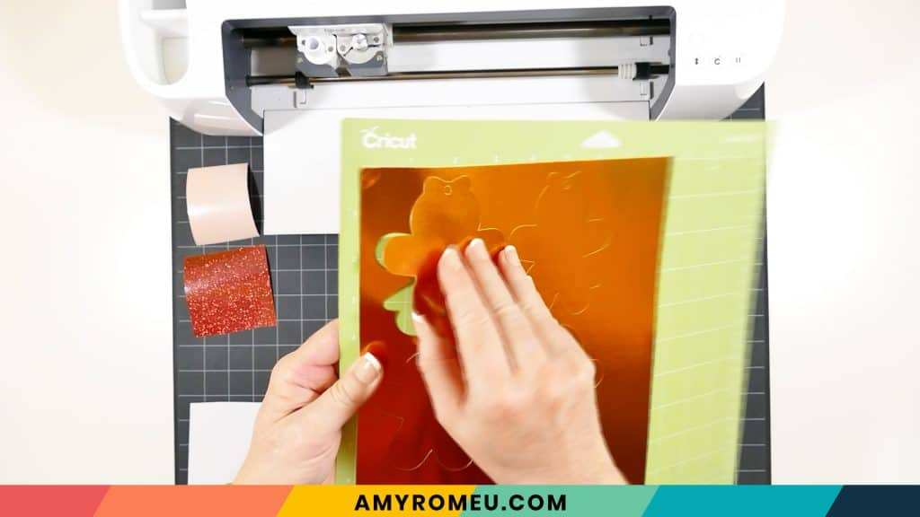 removing cardstock from cutting mat