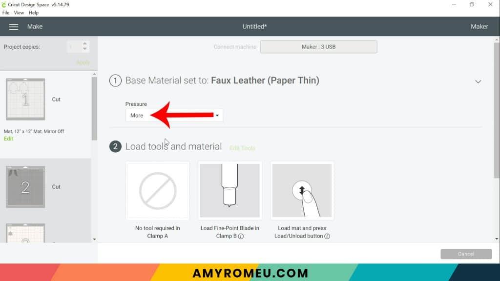 material setting default pressure