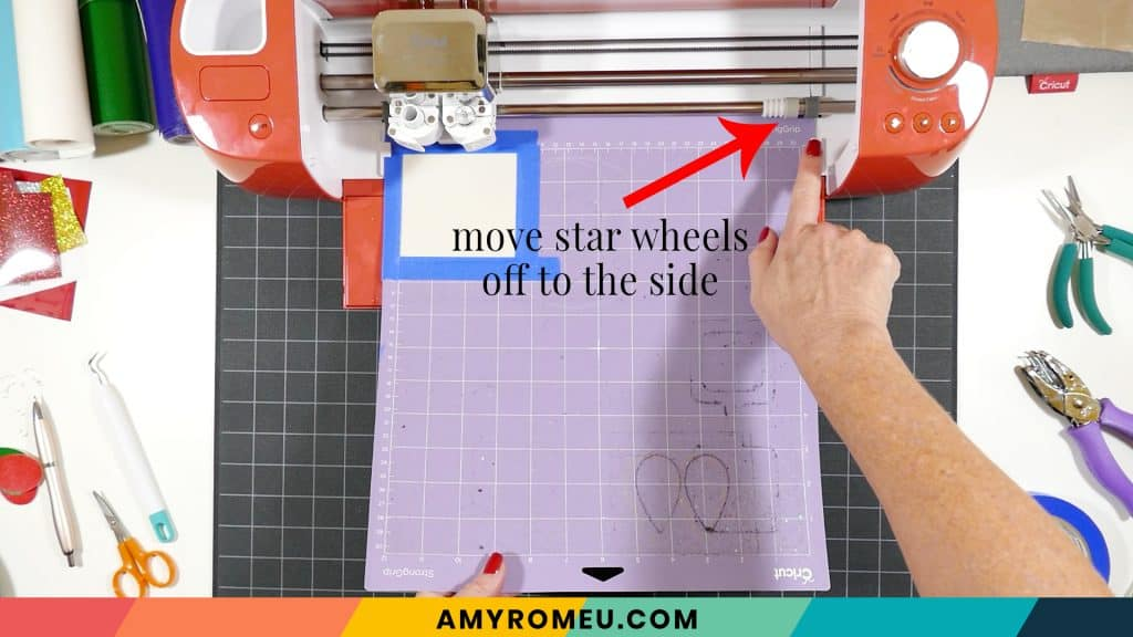 move star wheels off to side