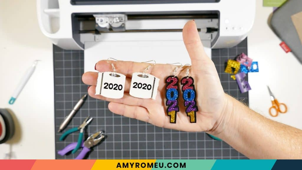 2020 toilet paper earrings and 2021 earrings