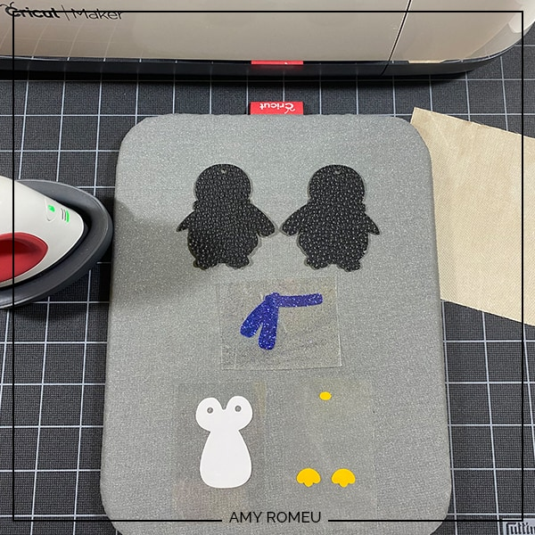 penguin keychain shapes weeded