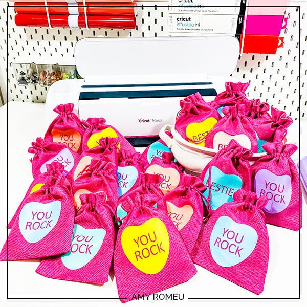 DIY Candy Heart Valentine's Day Gift Bags