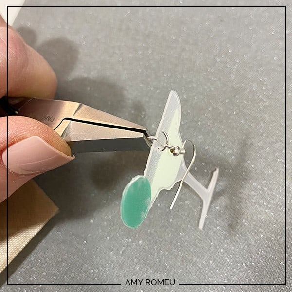 attaching earring hook to jump ring for margarita earrings